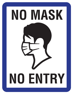 Window Clings - No Mask No Entry