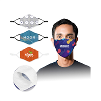 Face Mask -3-Ply Face Mask w/ Nose Clip