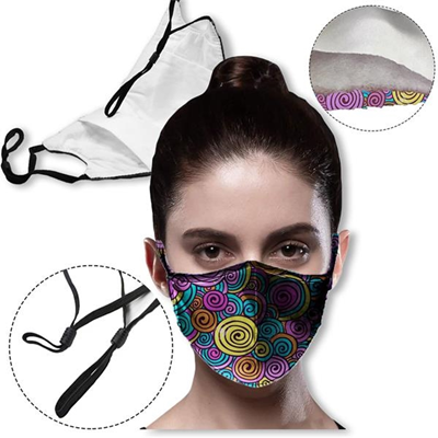 Face Mask -3-Ply Full Color Face Masks (Edge-to-Edge Printing)