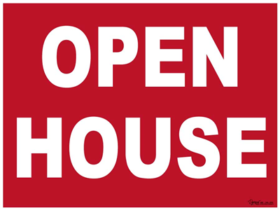 Stock Open House Sign 24x18