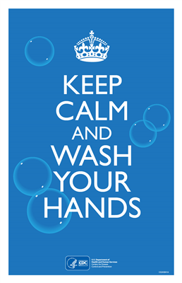 "11x17"" - Flyer - Keep Calm and Wash"