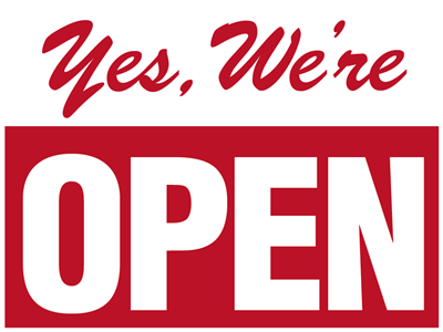 24x18 H-stake Sign - Yes, We're Open