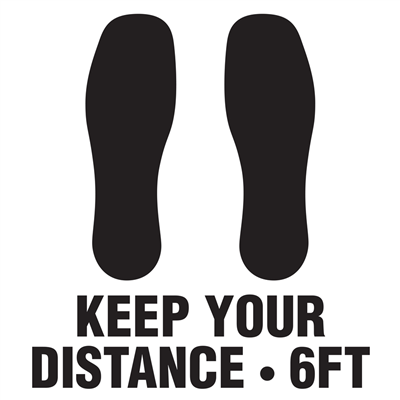 Square Floor Graphic - Keep Your Distance